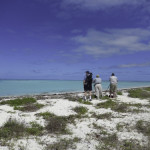 Hal Wyss and Jeff Carrier admire the topical shallows on Bush Key in the Dry Tortugas. Bush Key is a nesting ground for sooty and brown noddy terns.