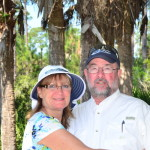 Jeff &Carol Carrier take a break at Corkscrew Wildlife Sanctuary for a rare picture of Carol. Carol was the group's photographer and Jeff's assistant for the course.